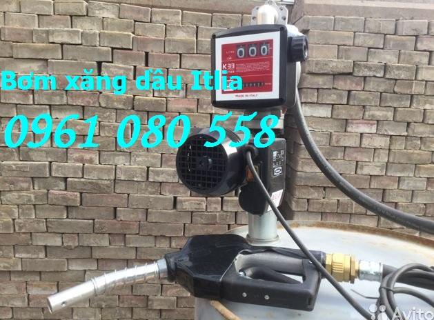 Bơm xăng dầu Piusi điện 220V, bộ bơm dầu diesel Drum Panther 56 K33,bơm dầu điện 220V giá rẻ