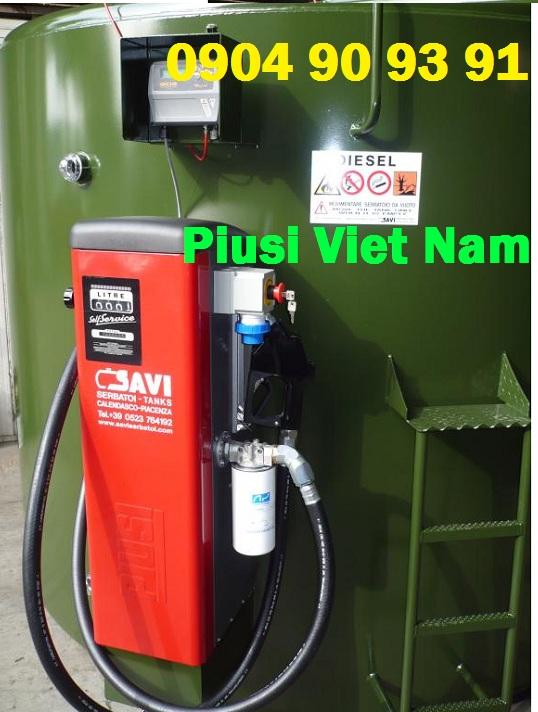 Cột bơm dầu diesel Piusi Self Service 70 K44, cột bơm dầu cấp phát nội bộ 70 lít.phút, bơm dầu cấp phát nội bộ