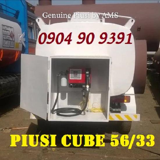 Bộ máy bơm dầu diesel Piusi Cube 56/33 230V,bơm dầu cấp bán lẻ cube 56/33,hộp bơm xăng dầu mini
