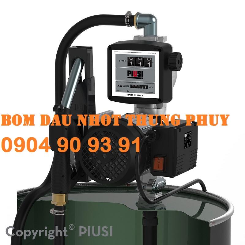 Máy bơm dầu nhớt Drum Viscomat 70 K33 220V (Đồng hồ cơ K33),bơm dầu thùng phuy kèm đồng hồ