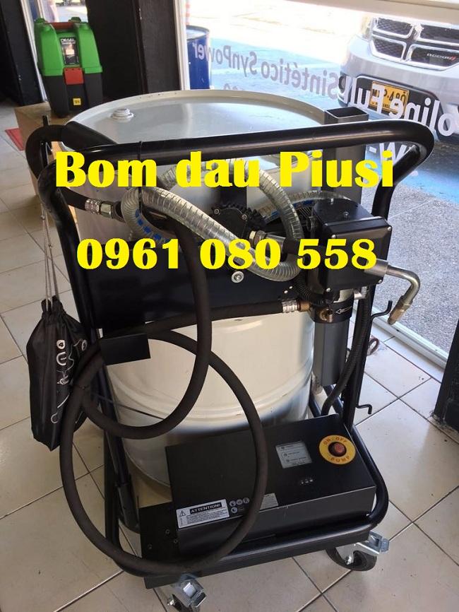Bộ bơm dầu Piusi viscotroll 70M K33 kèm xe đẩy dùng phuy,Piusi Piusi viscotroll 70M K33, bơm dầu thùng phuy kèm đồng hồ